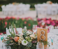 Rustic wedding table number