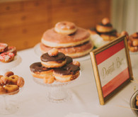 Donut bar dessert table