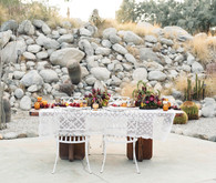 Bohemian desert wedding tablescape