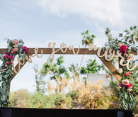 Whimsical wedding decor