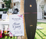 Surf board guest book