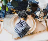 Retro geometric place setting