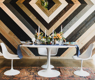 Retro geometric wedding tables cape