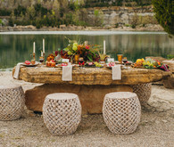 Bohemian outdoor wedding tablescape