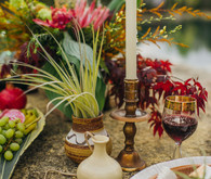Bohemian tablescape decor