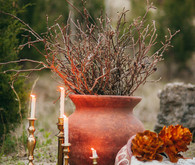 Bohemian outdoor wedding decor