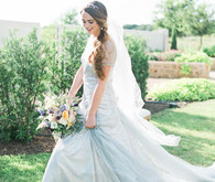Outdoor bridal portrait