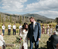 Outdoor colorado wedding ceremony