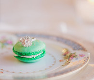 Green macaroon with ring