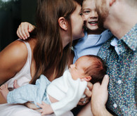 At home family newborn photos by Kaley Cornett