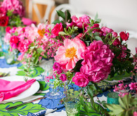 hot pink floral arrangements