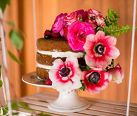 floral layer cake