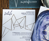 Boho wedding invitation suite