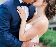 Elegant wedding portrait