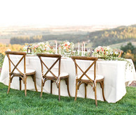 Wedding reception tablescape