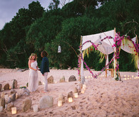 Indonesian island wedding ceremony