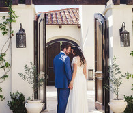 Santorini inspired wedding
