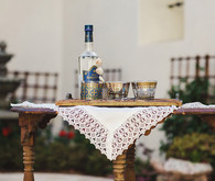 Greek ouzo celebratory drinks