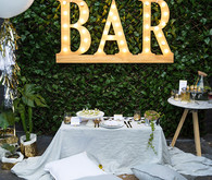 30th birthday party tablescape