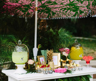 Aloha themed bridal shower decor
