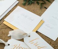 Gold name cards