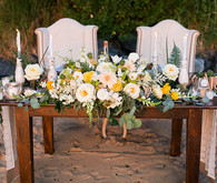 Beachside sweet heart table