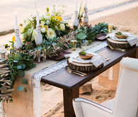 Beachside tablescape