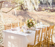Romantic spring wedding tablescape