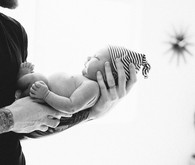 black and white newborn photos