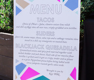 Modern wedding menu