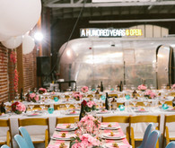 Modern wedding reception