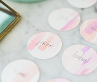 watercolor place cards