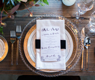 Winter wedding place setting
