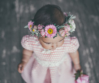 little girl and flower crown