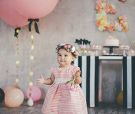 blush and gold first birthday