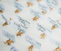Gold animal place cards