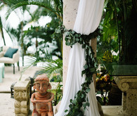 Romantic seaside wedding