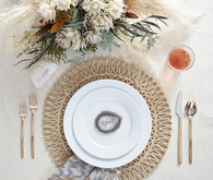 Bohemian dinnerware idea
