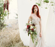 Earthy bridal portrait