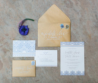 Spanish wedding invitation suite