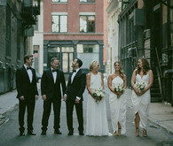 New York City wedding party portrait