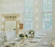 Modern white tablescape