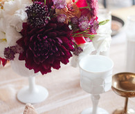 burgundy floral arrangement
