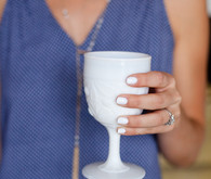 milk glass cup