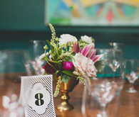 Art Deco wedding table decor