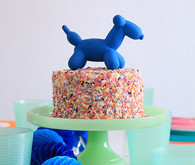 balloon animal cake