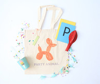 balloon animal tote favors