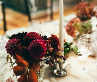 Romantic autumn tablescape