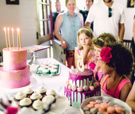 pink floral birthday party
