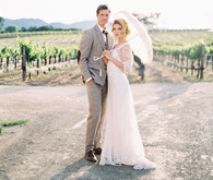 Winery wedding portrait
